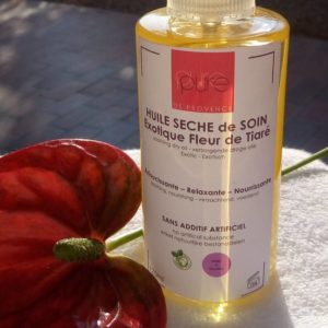 dry hair and body oil