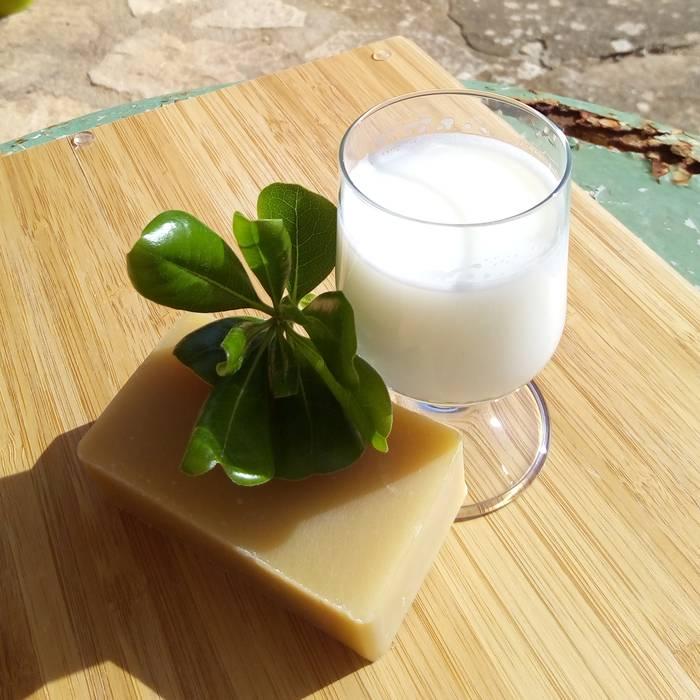 Savon au lait d'anesse bio saponifié à froid