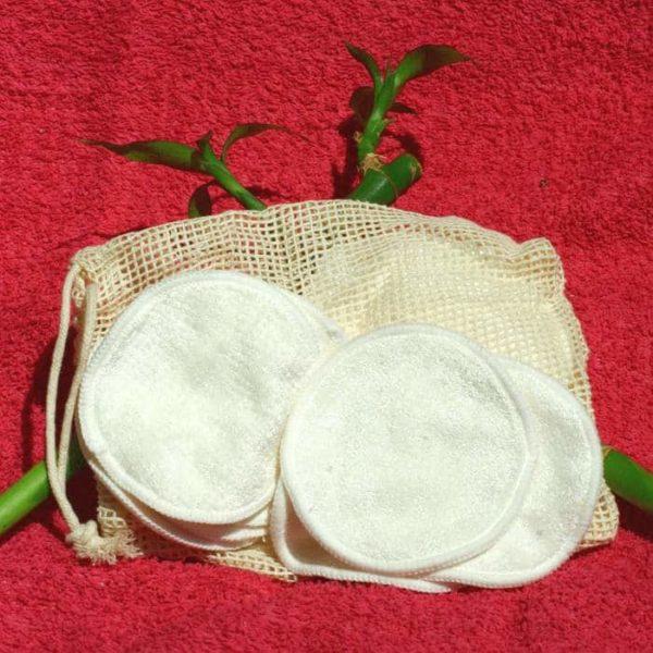 12 lingettes démaquillantes lavables en bambou